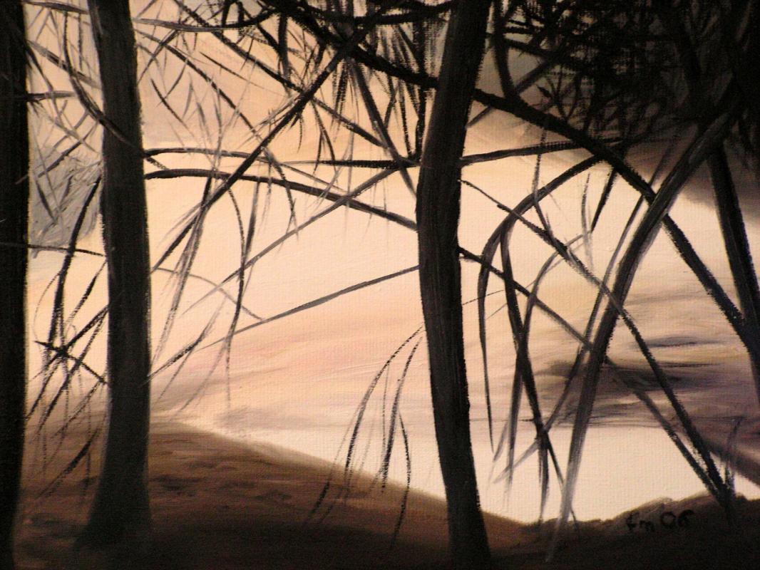 Peinture de paysage huile sur toile de jean joseph chevalier 1