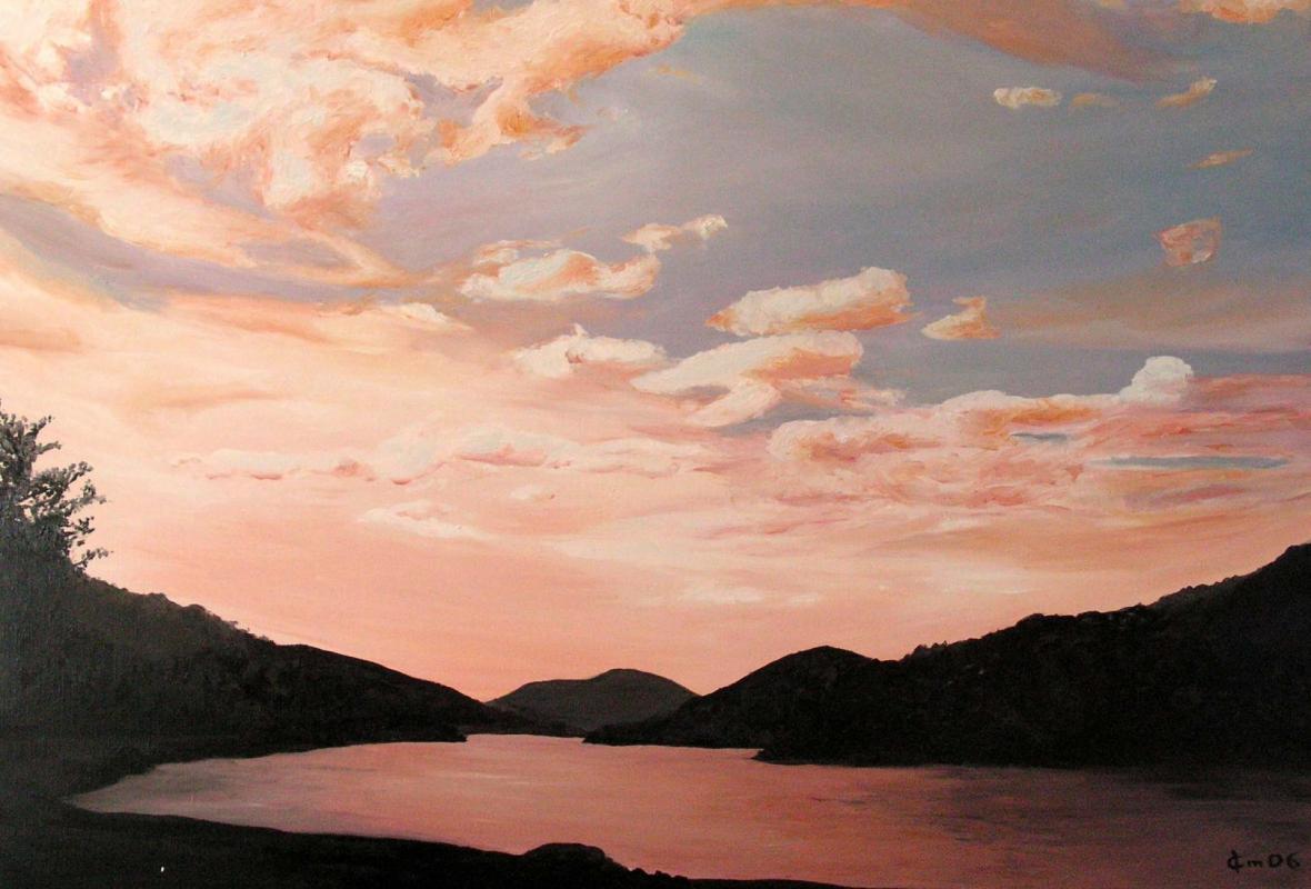 Peinture de paysage huile sur toile de jean joseph chevalier 3