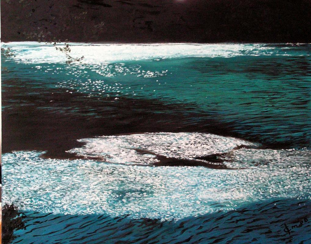 Peinture de paysage huile sur toile de jean joseph chevalier 5