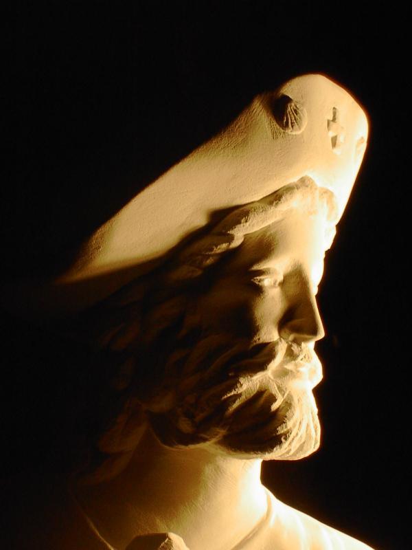 St jacques sculpture en pierre statue d 1 4m 5