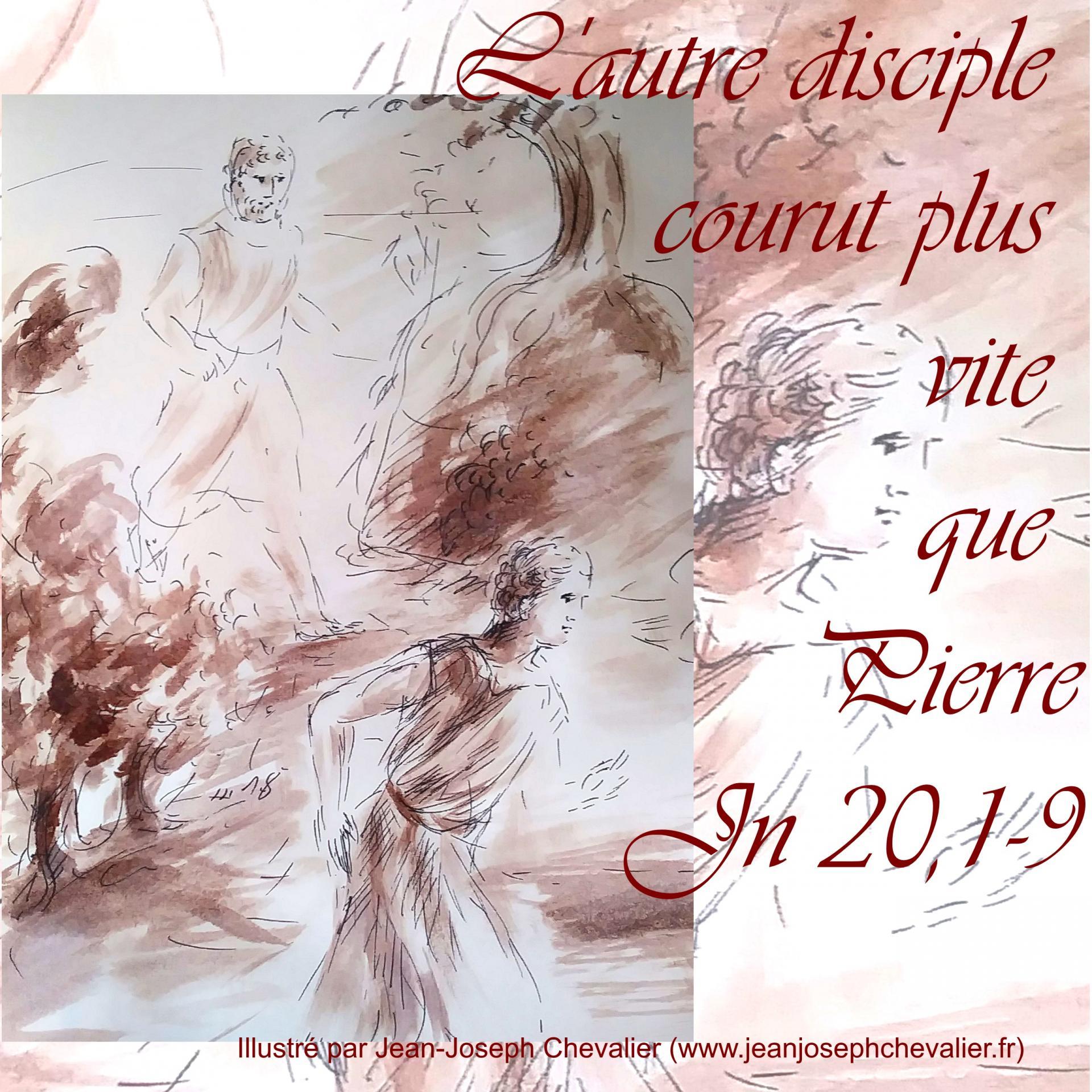 1 avril 2018 evangile du jour illustre par un dessin au lavis de jean joseph chevalier image