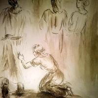 1 juillet 2018 evangile du jour illustre par un dessin au lavis de jean joseph chevalier