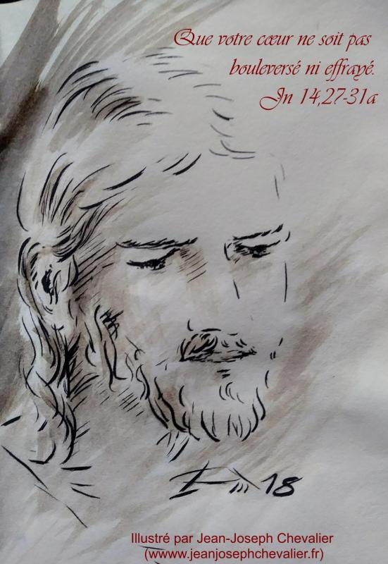 1 mai 2018 evangile du jour illustre par un dessin au lavis de jean joseph chevalier image
