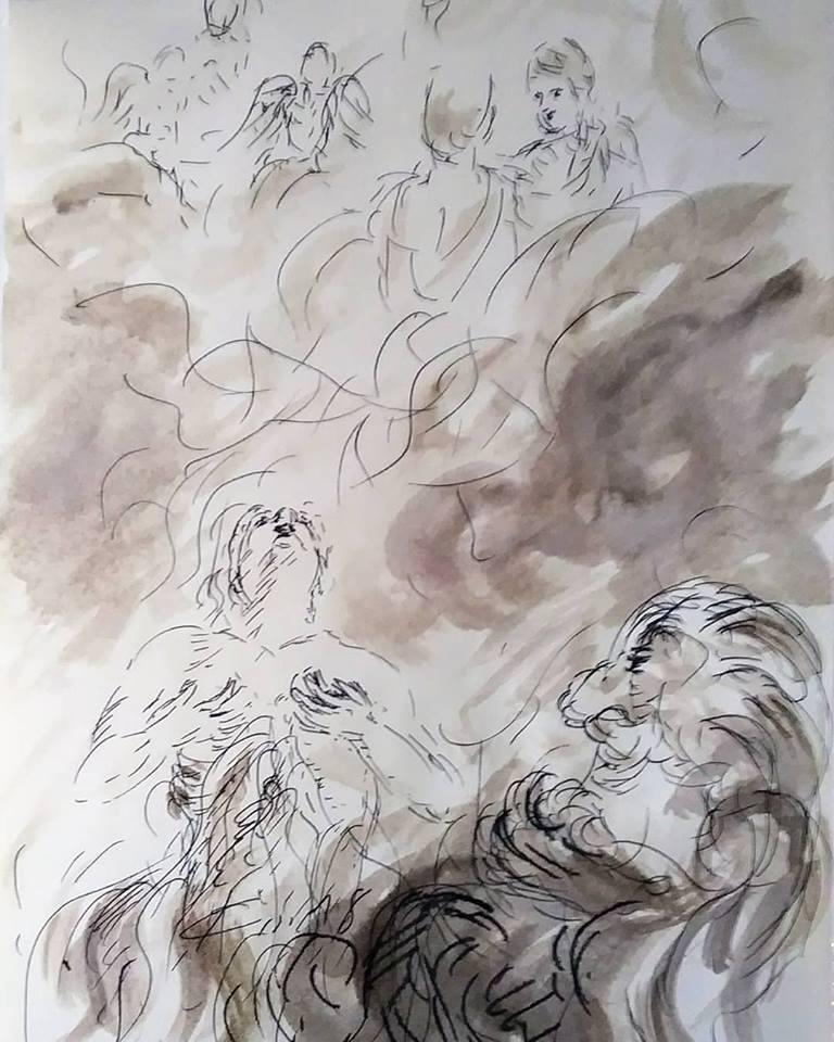 1 mars 2018 lc 16 19 31 evangile illustre au lavis par jean joseph chevalier