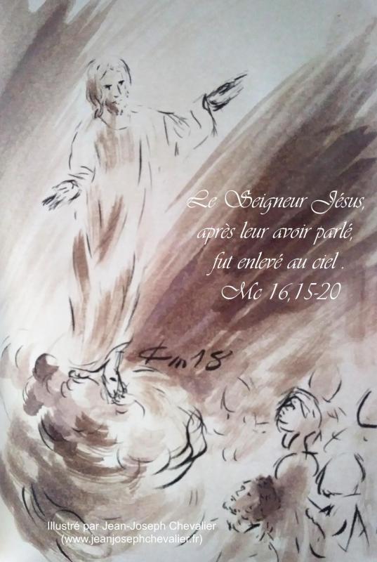 10 mai 2018 evangile du jour illustre par un dessin au lavis de jean joseph chevalier image