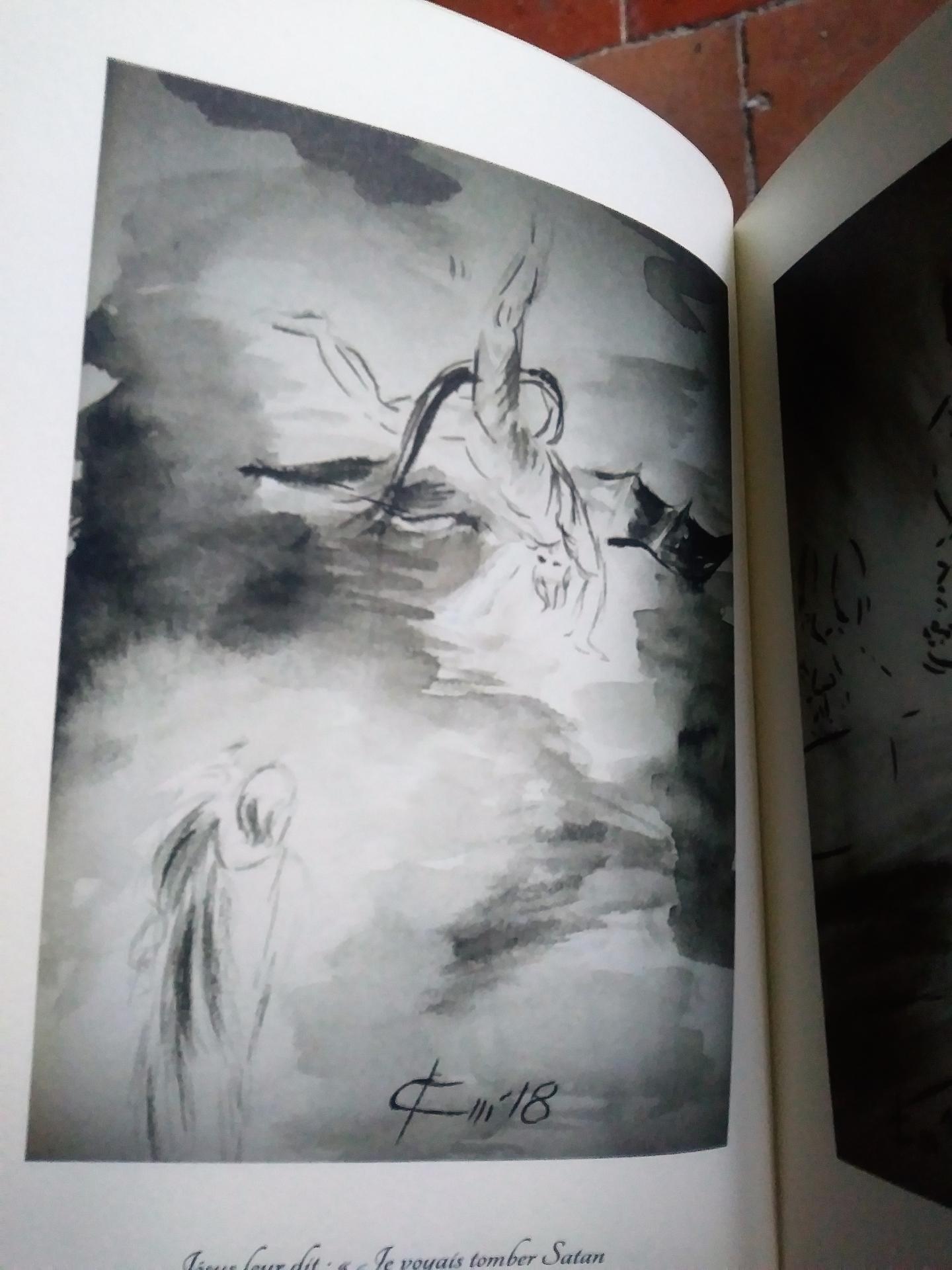 evangile du jour illustre par un dessin au lavis de jean joseph chevalier
