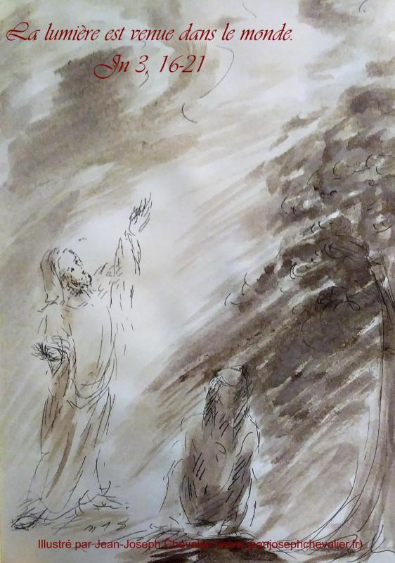 11 avril 2018 evangile du jour illustre par un dessin au lavis de jean joseph chevalier image