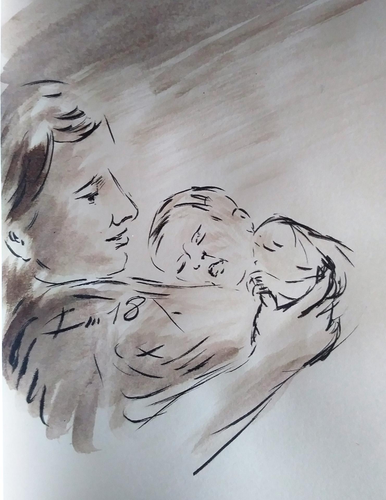 11 Mai 2018, évangile du jour illustré par un dessin au lavis
