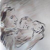 11 mai 2018 evangile du jour illustre par un dessin au lavis de jean joseph chevalier