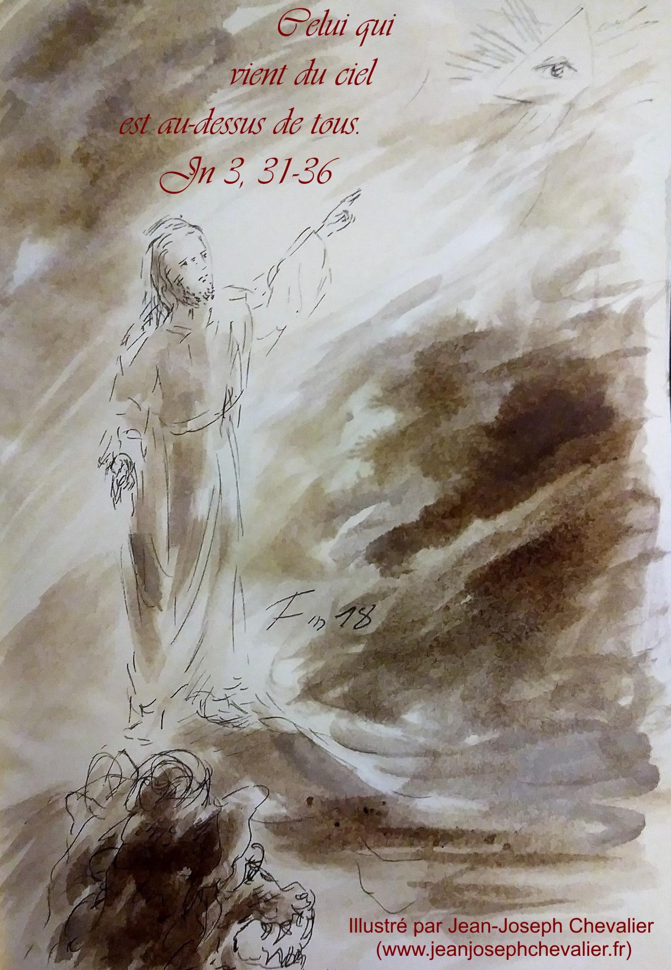 12 avril 2018 evangile du jour illustre par un dessin au lavis de jean joseph chevalier image