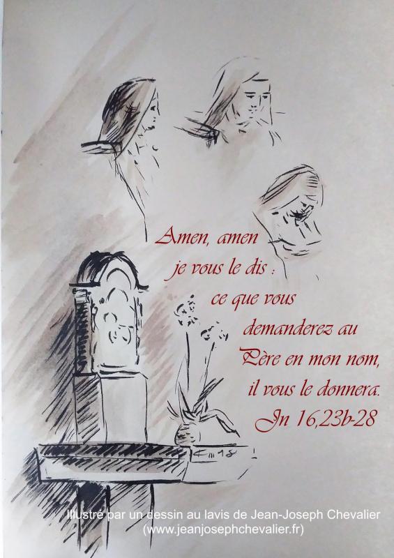 12 mai 2018 evangile du jour illustre par un dessin au lavis de jean joseph chevalier image