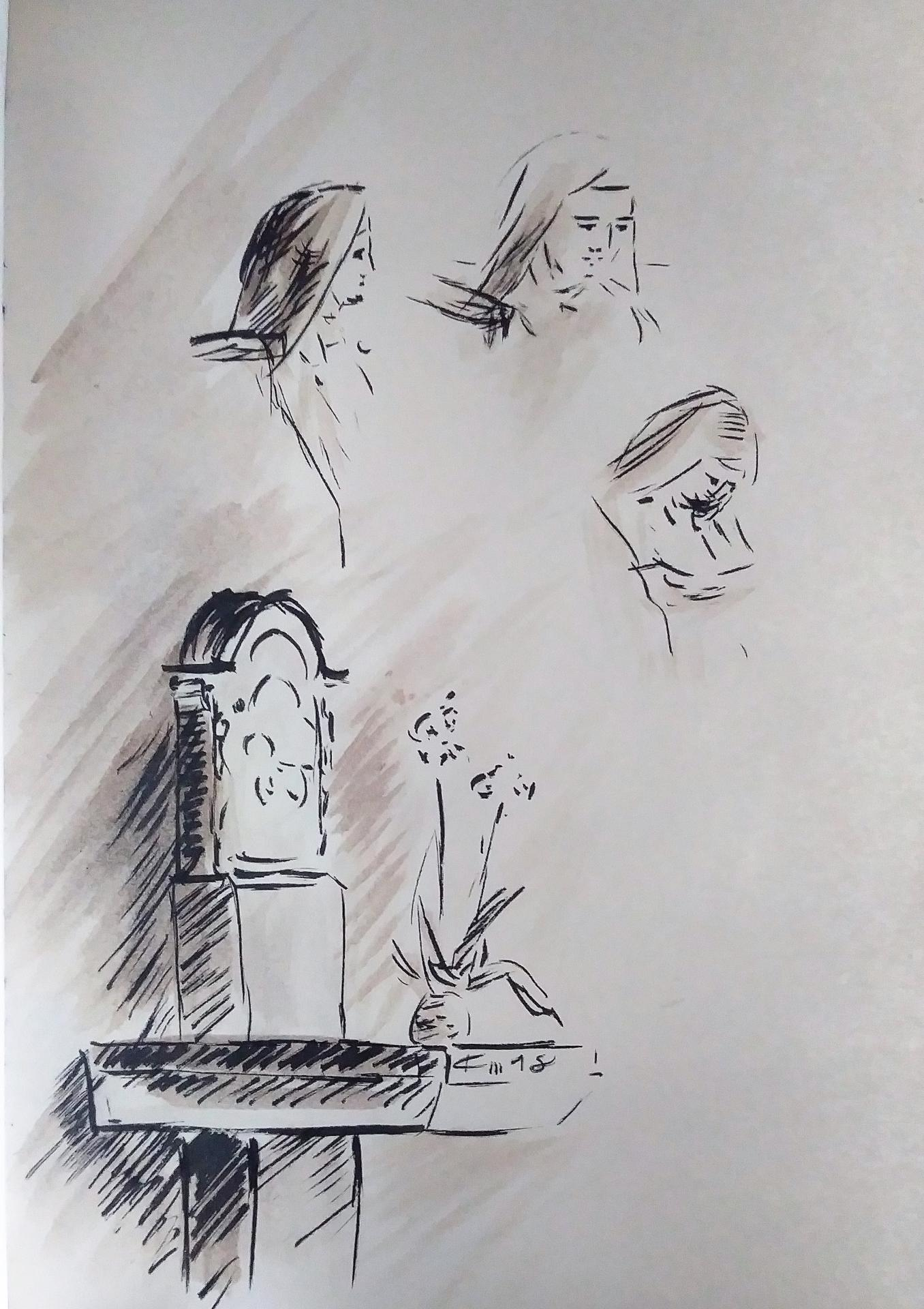 12 Mai 2018, évangile du jour illustré par un dessin au lavis