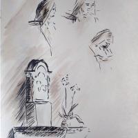 12 mai 2018 evangile du jour illustre par un dessin au lavis de jean joseph chevalier