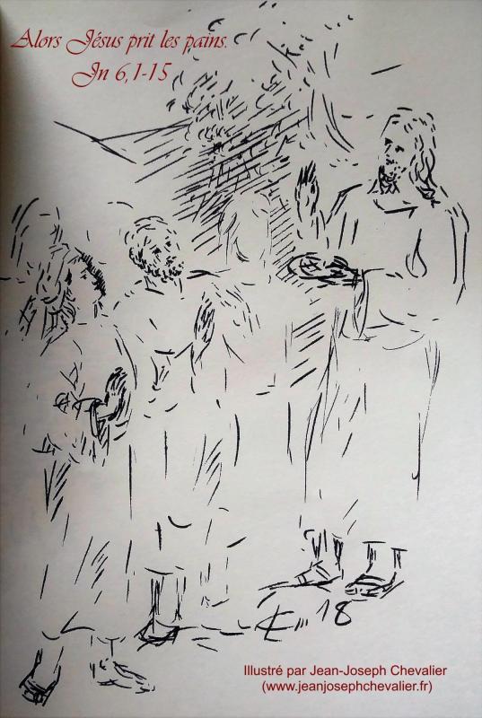13 avril 2018 evangile du jour illustre par un dessin au lavis de jean joseph chevalier image