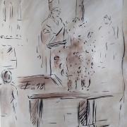 13 mai 2018 evangile du jour illustre par un dessin au lavis de jean joseph chevalier