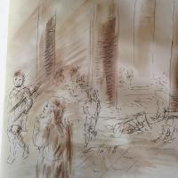 13 mars 2018 evangile du jour illustre par un dessin au lavis de jean joseph chevalier