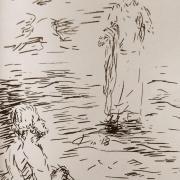 14 avril 2018 evangile du jour illustre par un dessin au lavis de jean joseph chevalier