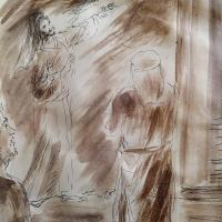 14 mars 2018 evangile du jour illustre par un dessin au lavis de jean joseph chevalier
