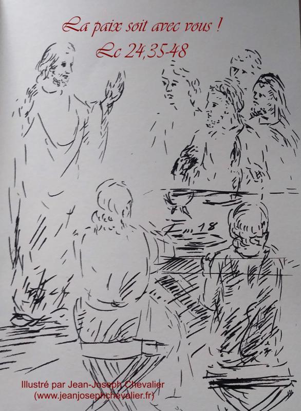 15 avril 2018 evangile du jour illustre par un dessin au lavis de jean joseph chevalier image