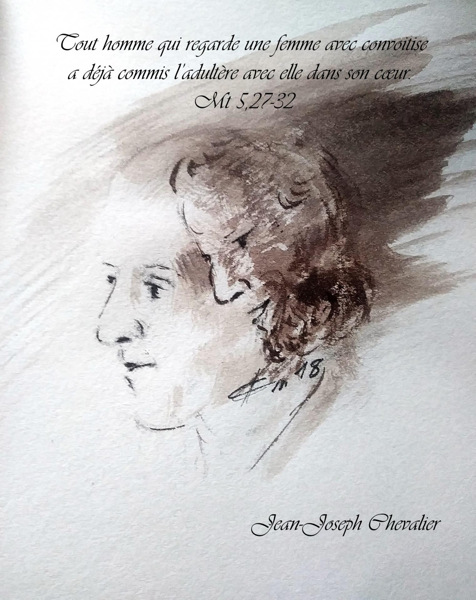 15 Juin 2018, évangile du jour illustré par un dessin au lavis