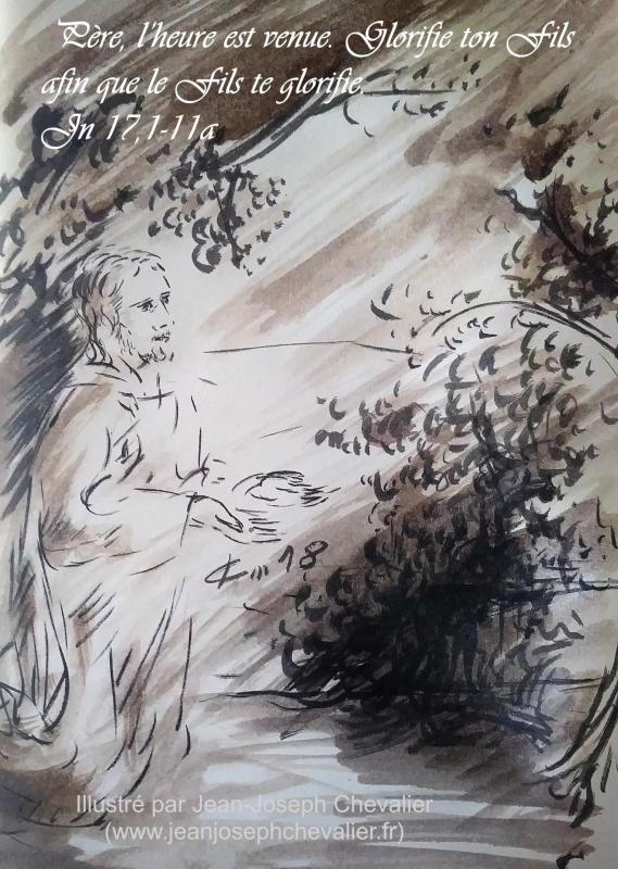 15 mai 2018 evangile du jour illustre par un dessin au lavis de jean joseph chevalier image