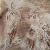 15 mars 2018 evangile du jour illustre par un dessin au lavis de jean joseph chevalier