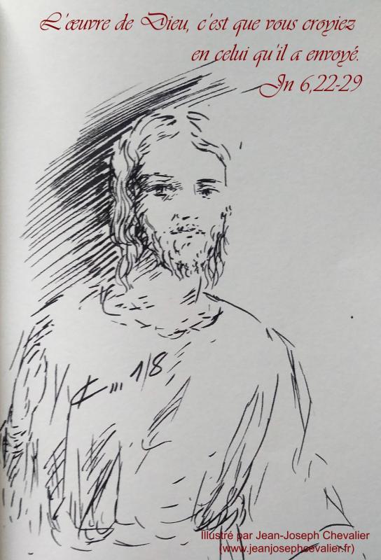 16 avril 2018 evangile du jour illustre par un dessin au lavis de jean joseph chevalier image