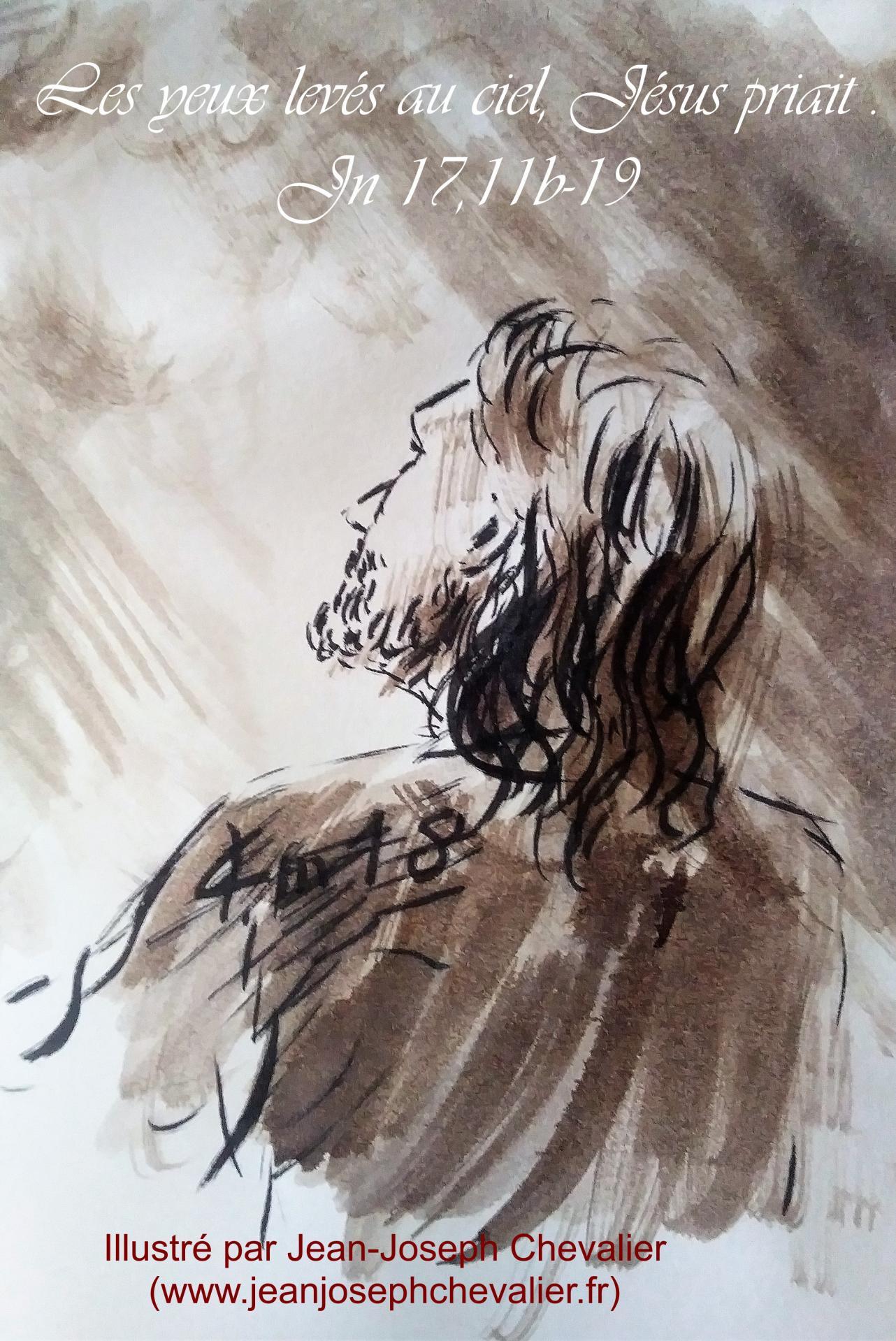 16 mai 2018 evangile du jour illustre par un dessin au lavis de jean joseph chevalier image