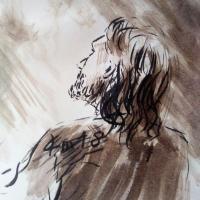 16 mai 2018 evangile du jour illustre par un dessin au lavis de jean joseph chevalier