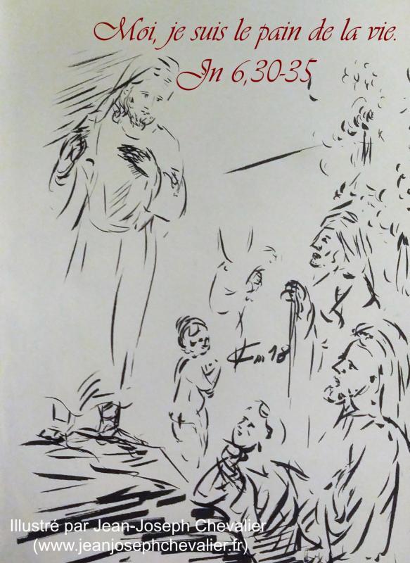 17 avril 2018 evangile du jour illustre par un dessin au lavis de jean joseph chevalier image