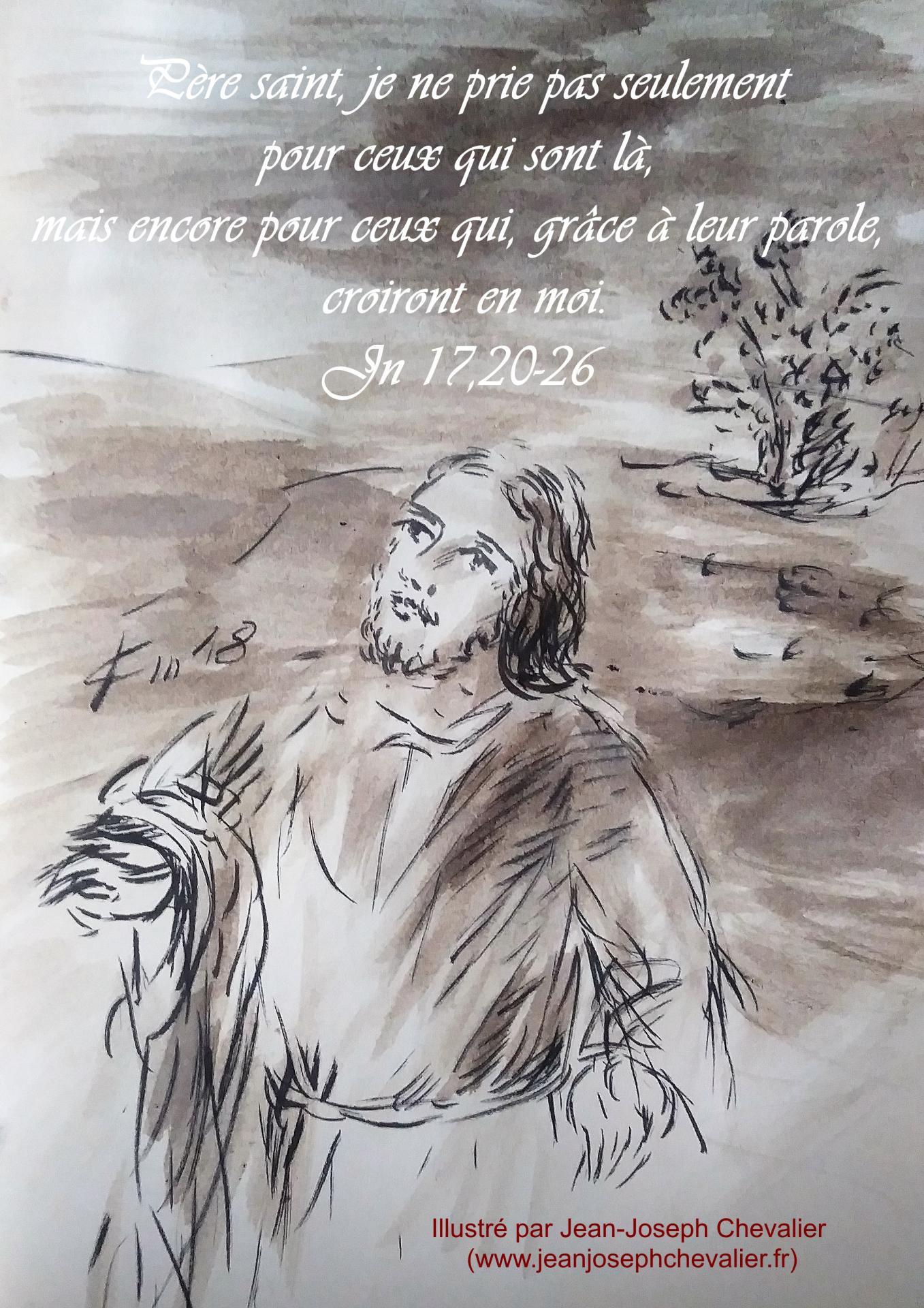 17 mai 2018 evangile du jour illustre par un dessin au lavis de jean joseph chevalier image