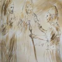 17 mars 2018 evangile du jour illustre par un dessin au lavis de jean joseph chevalier