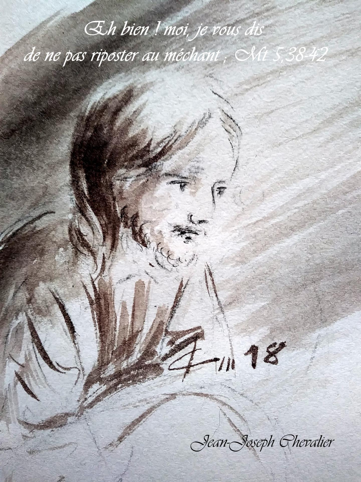 18 Juin 2018, évangile du jour illustré par un dessin au lavis