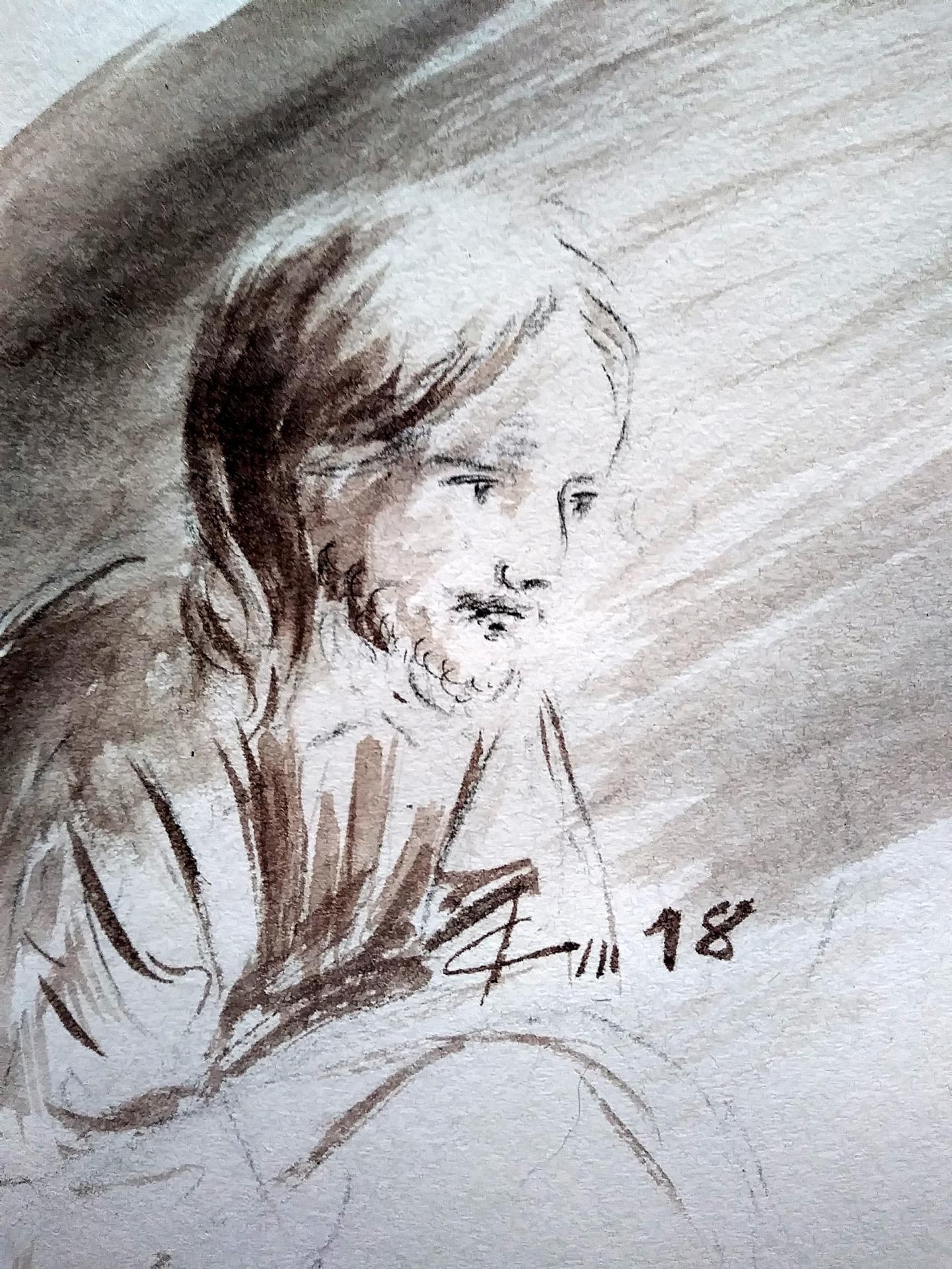 18 juin 2018 evangile du jour illustre par un dessin au lavis de jean joseph chevalier