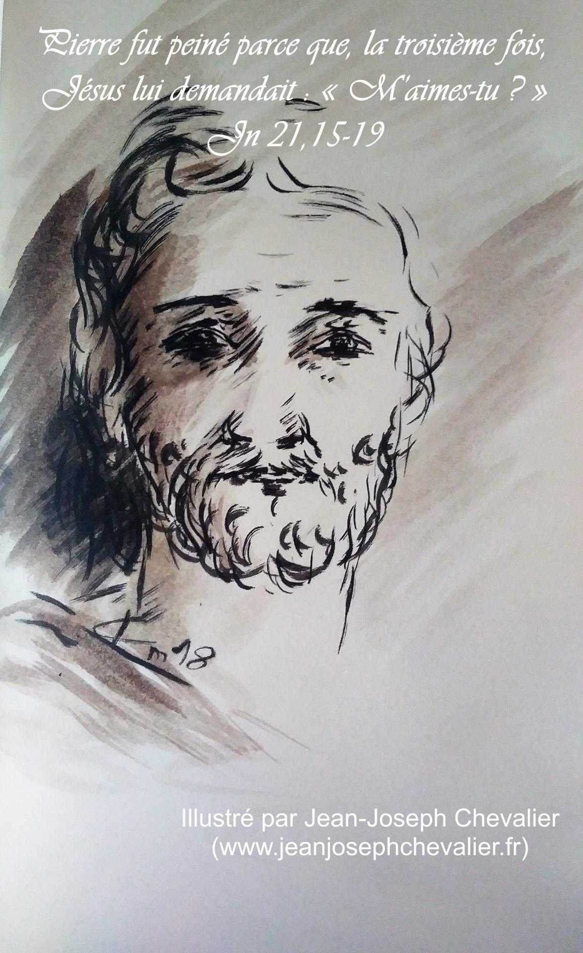 18 mai 2018 evangile du jour illustre par un dessin au lavis de jean joseph chevalier image