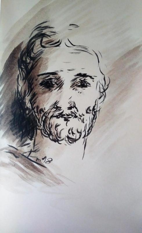 18 mai 2018 evangile du jour illustre par un dessin au lavis de jean joseph chevalier