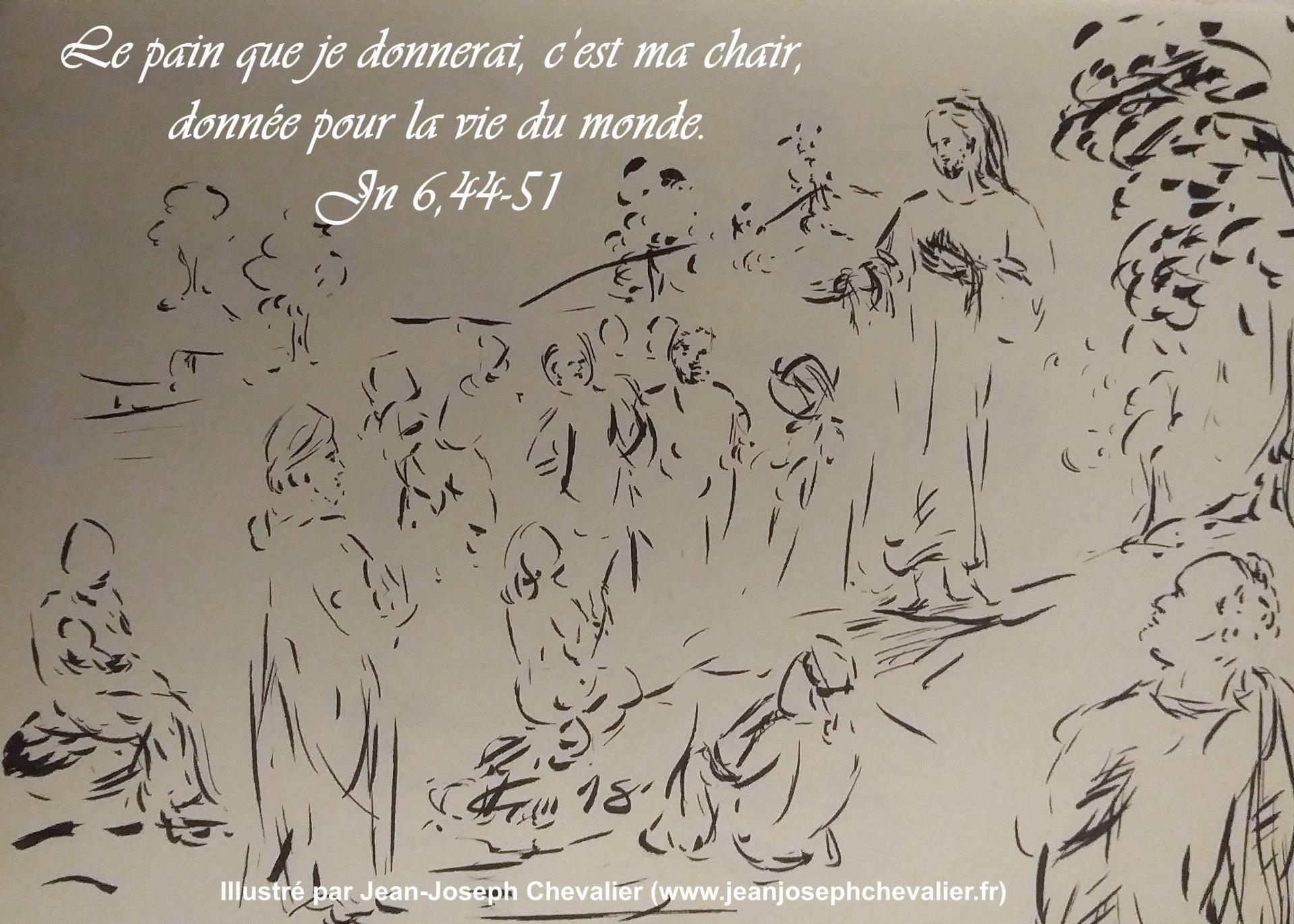 19 avril 2018 evangile du jour illustre par un dessin au lavis de jean joseph chevalier image