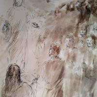 19 janvier 2018 image evangile du jour illustre par un dessin au lavis de jean joseph chevalier