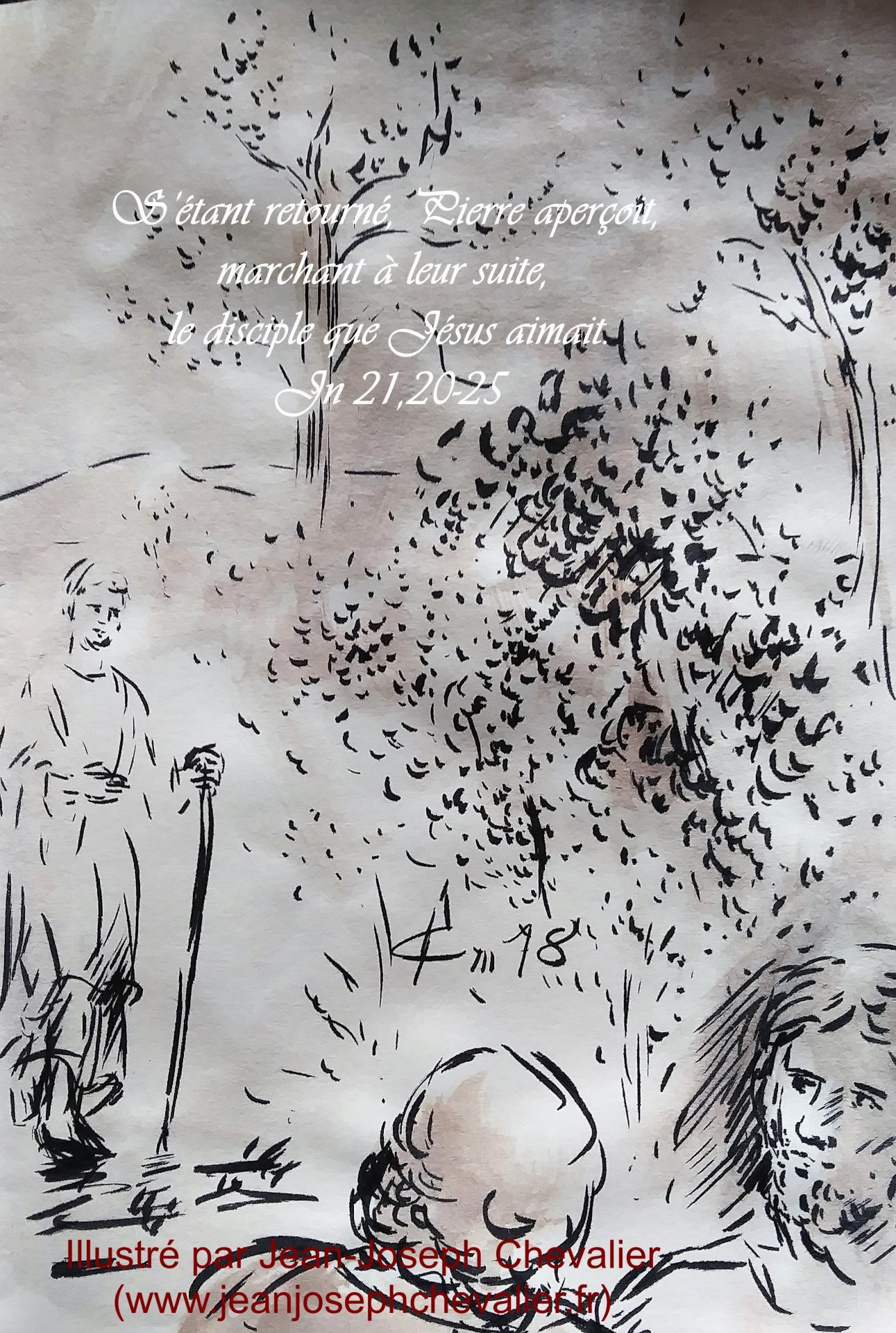 19 mai 2018 evangile du jour illustre par un dessin au lavis de jean joseph chevalier image