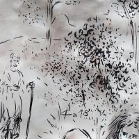 19 mai 2018 evangile du jour illustre par un dessin au lavis de jean joseph chevalier