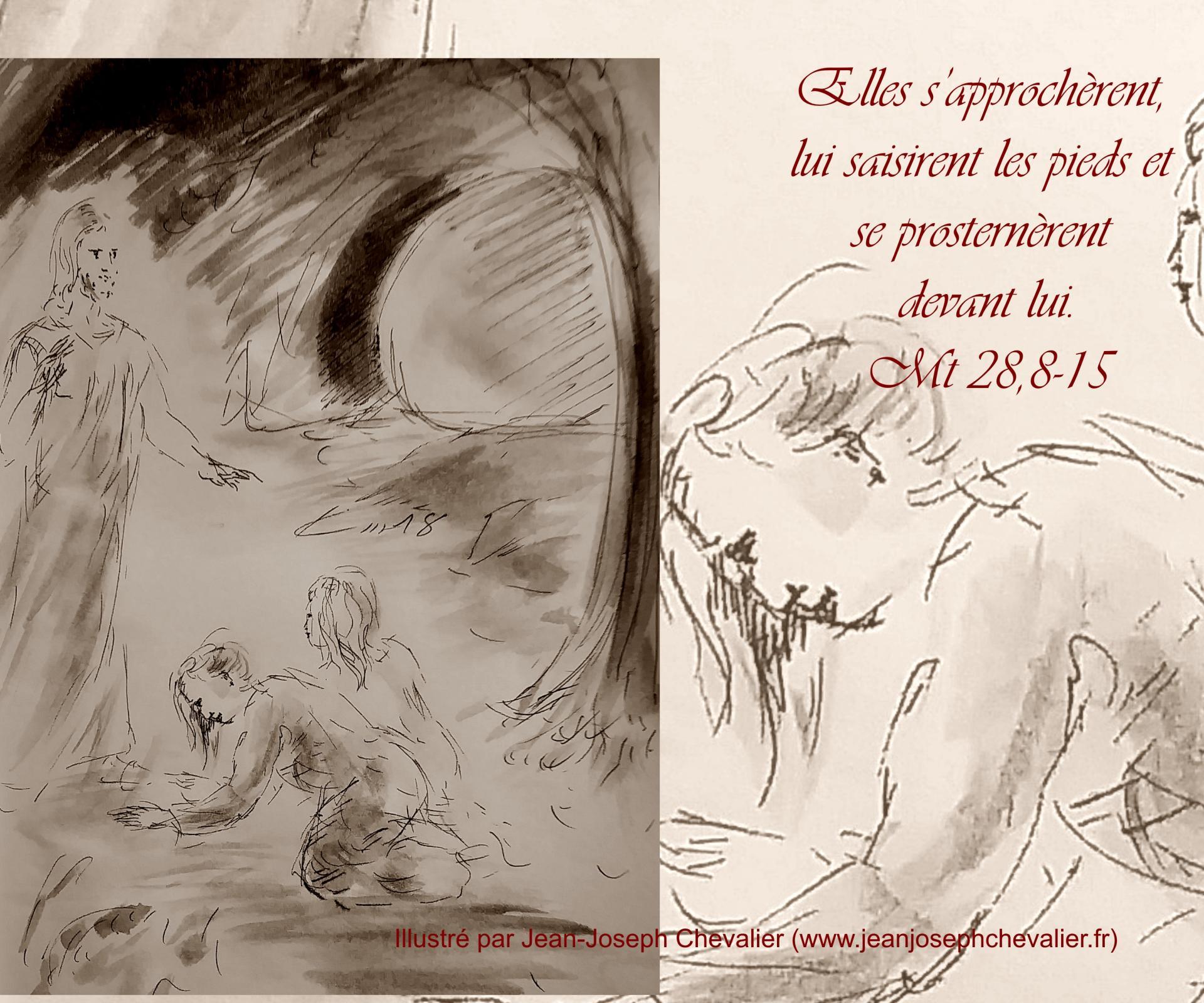 2 avril 2018 evangile du jour illustre par un dessin au lavis de jean joseph chevalier image
