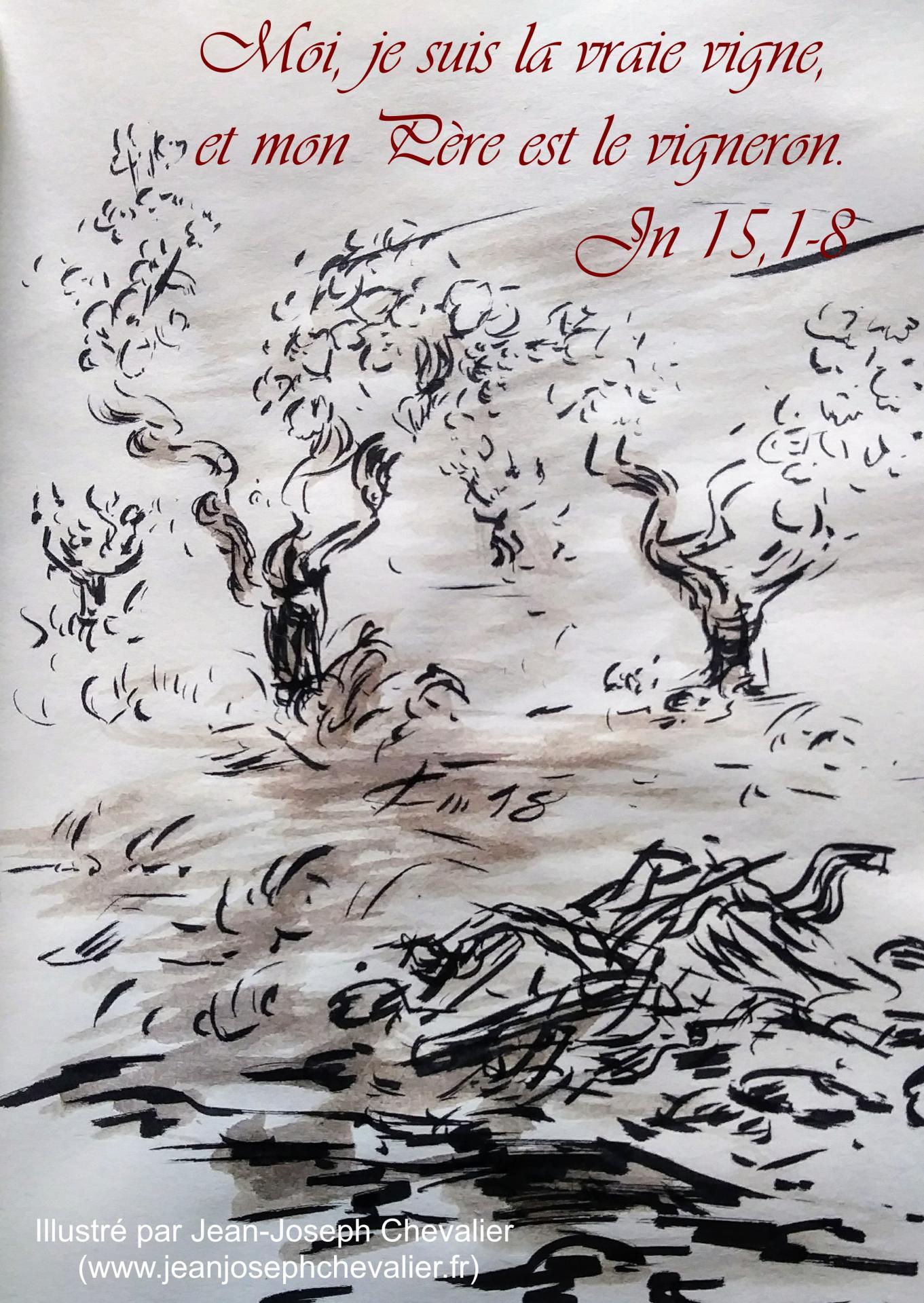 2 mai 2018 evangile du jour illustre par un dessin au lavis de jean joseph chevalier image