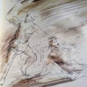 2 mars 2018 mt 21 33 43 45 46 evangile illustre dessin au lavis de jean joseph chevalier