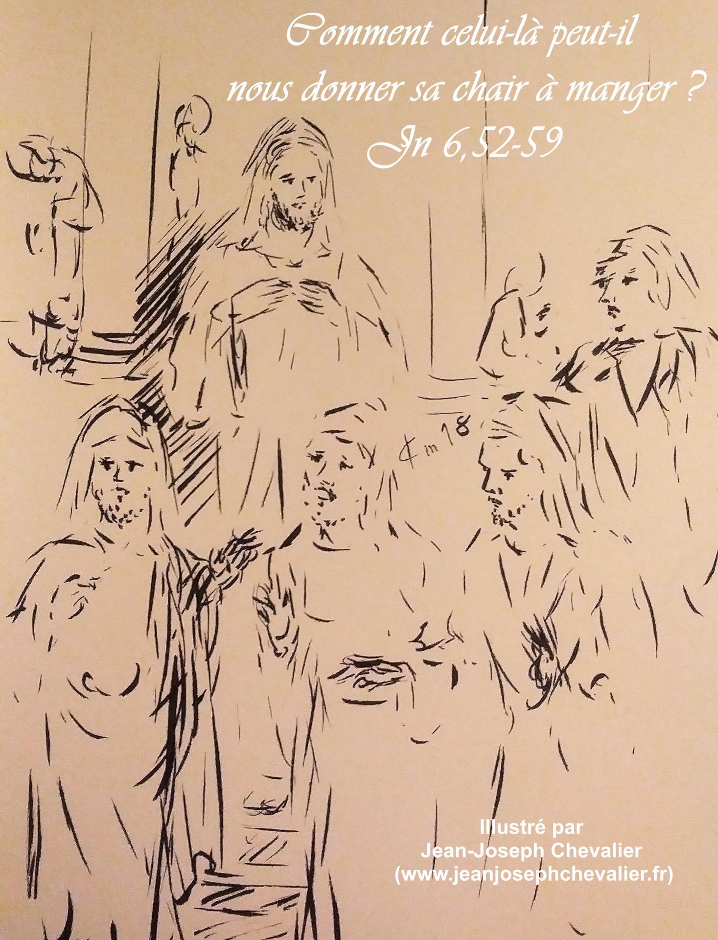 20 avril 2018 evangile du jour illustre par un dessin au lavis de jean joseph chevalier image