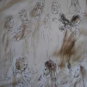 20 janvier 2018 image evangile du jour illustre par un dessin au lavis de jean joseph chevalier
