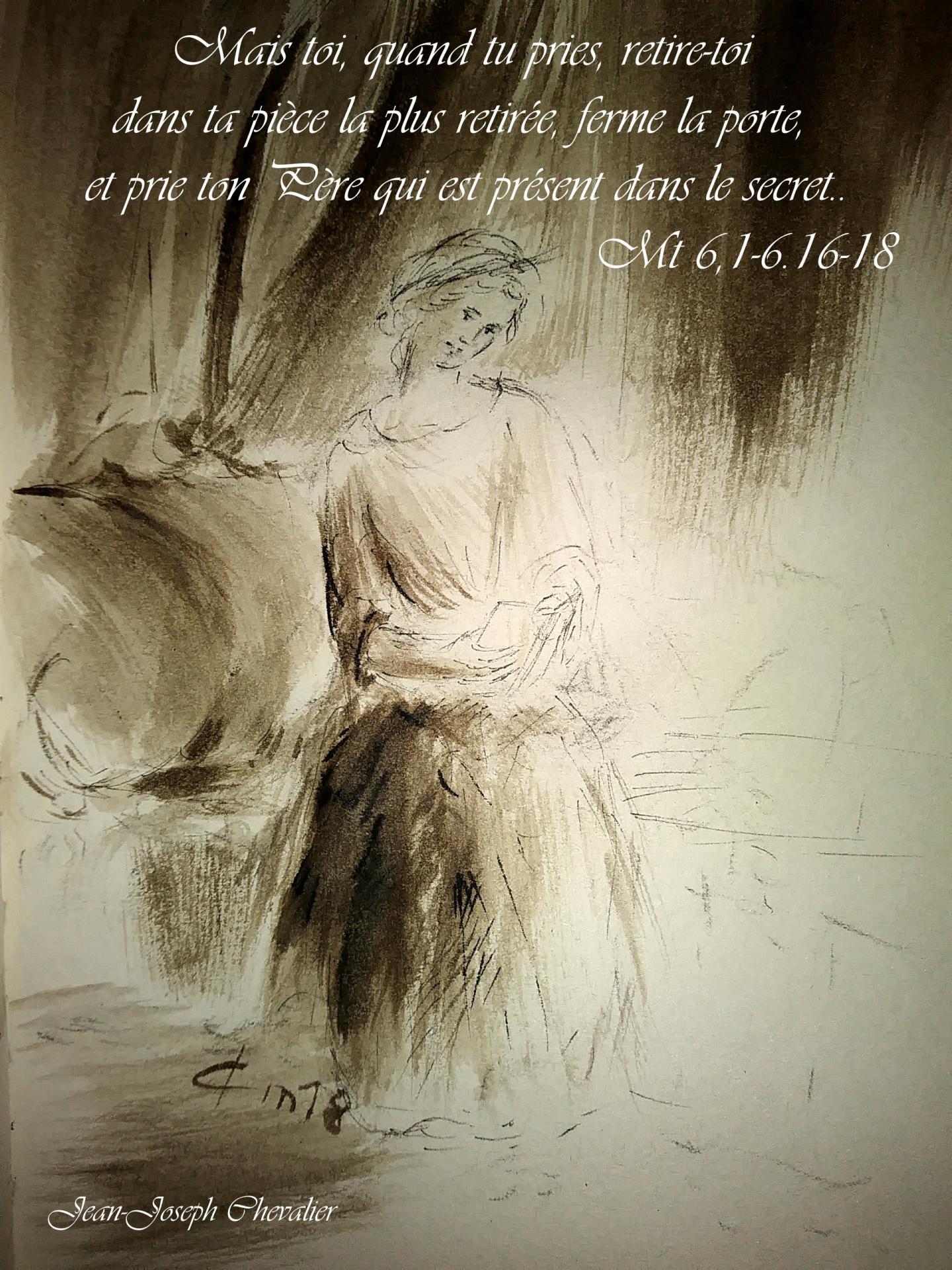 20 Juin 2018, évangile du jour illustré par un dessin au lavis