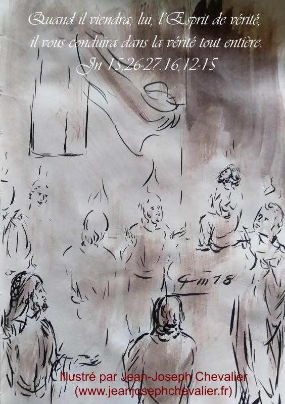 En Marche vers Dimanche : Pour nourrir notre intelligence et... notre ♥... - Page 3 20-mai-2018-evangile-du-jour-illustre-par-un-dessin-au-lavis-de-jean-joseph-chevalier-image