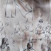 20 mai 2018 evangile du jour illustre par un dessin au lavis de jean joseph chevalier