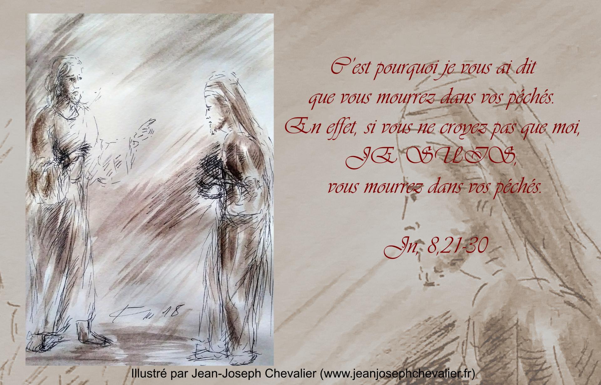 20 mars 2018 evangile du jour illustre par un dessin au lavis de jean joseph chevalier