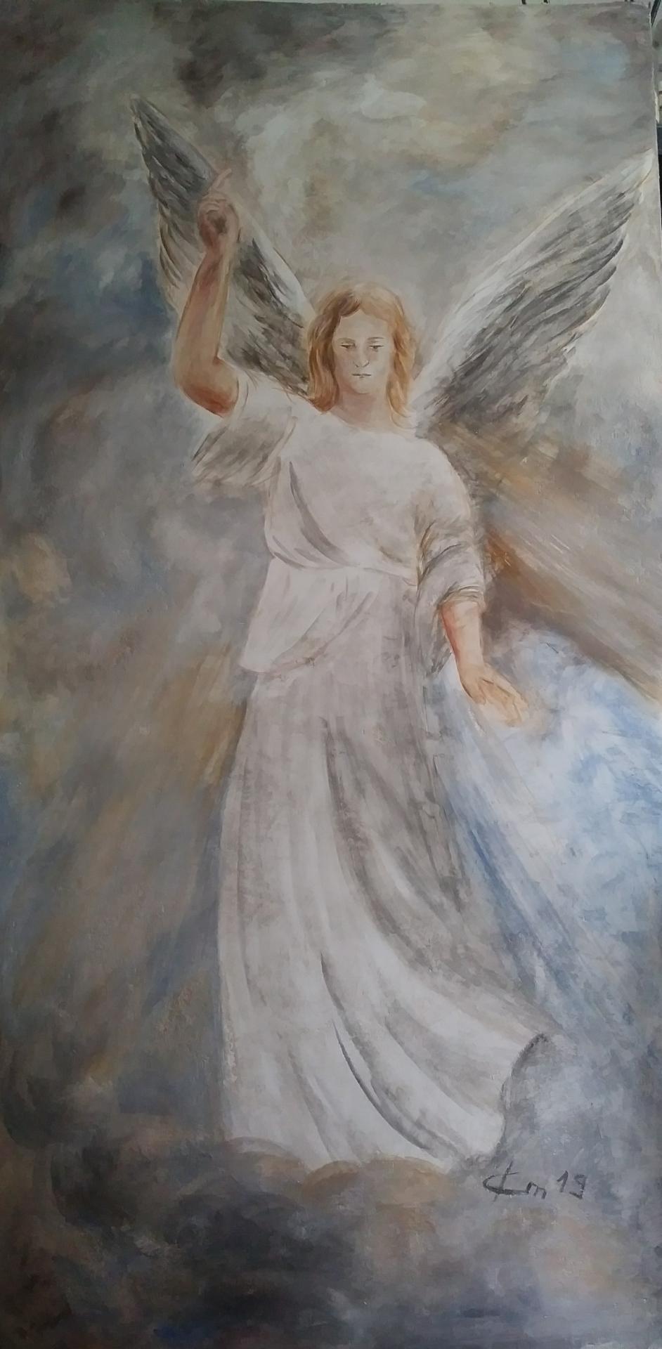 Fresque a fresco de St Gabriel Archange